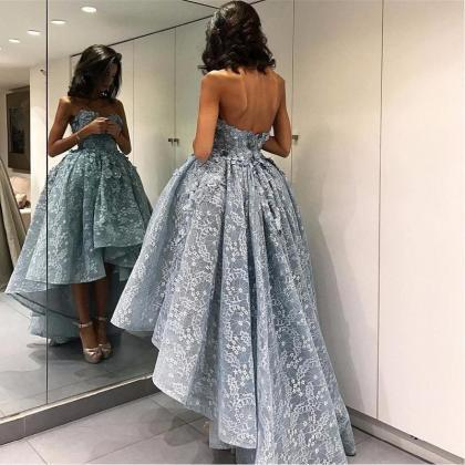 2017 High Low Prom Dresses,A-line P..