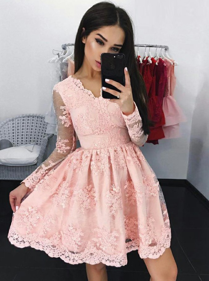 Long Sleeve Graduation Dresses