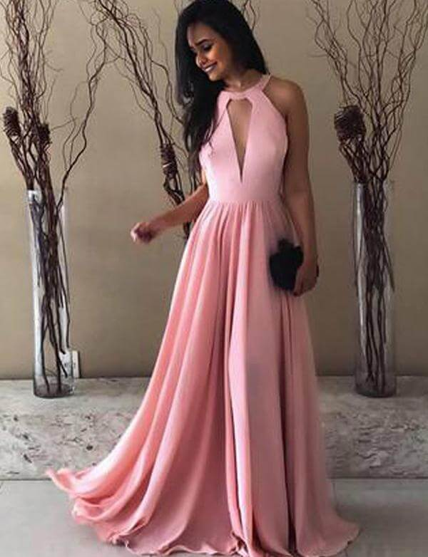 Pink Prom Dresses, A Line Prom Dresses,Satin Prom Dresses ,Floor Length Evening Gowns,Long Prom Dresses ,Simple Prom Dresses #1010010704