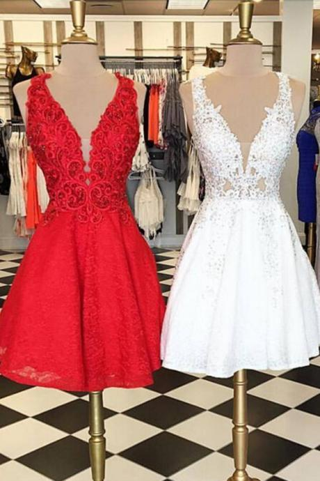 2017 Homecoming Dresses,A-line Homecoming Dresses,Straps Homecoming Dresses,Applique Homecoming Dresses,Short Prom Dresses,Party Dresses