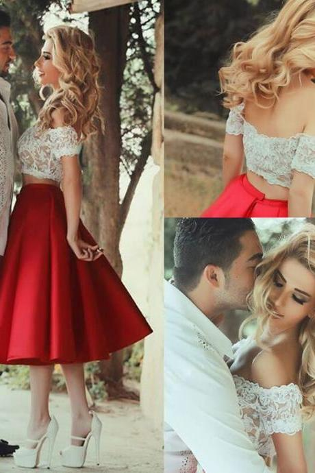 Two Pieces Homecoming Dresses,A-line Homecoming Dresses,Lace Homecoming Dresses,Off Shoulder Homecoming Dresses,Short Prom Dresses,Party Dresses